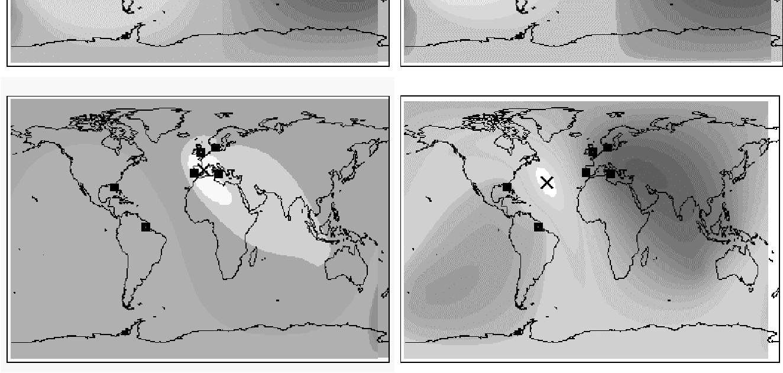 error analysis for a long range lightning monitoring network of