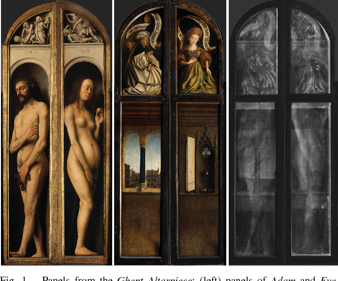 Figure 1 for Multi-modal dictionary learning for image separation with application in art investigation