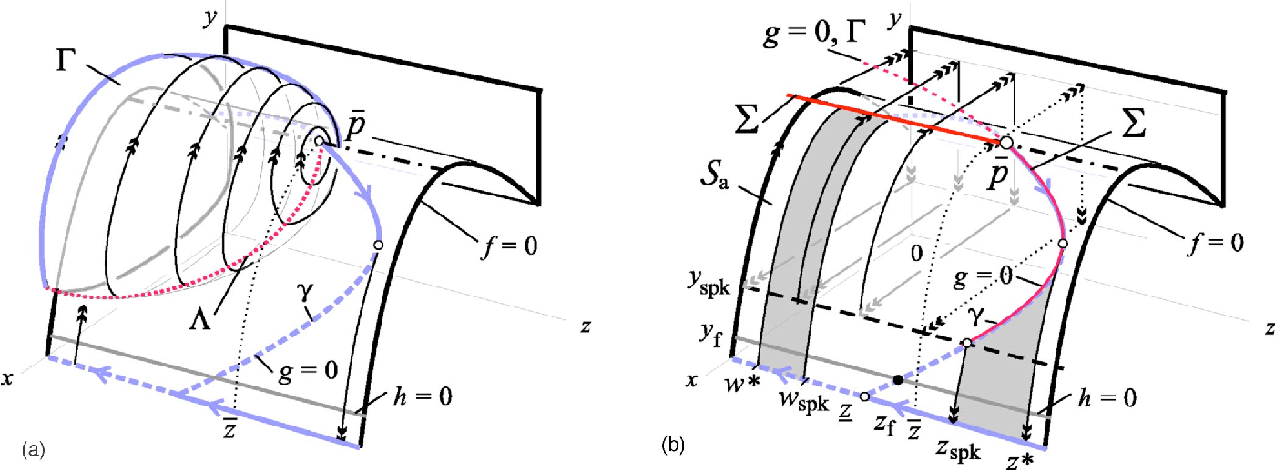 nullcline surfaces and bifurcation surfaces when z