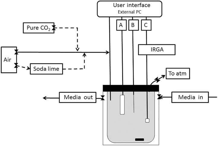 schematic diagram of the mi-irga system  the microcosm is
