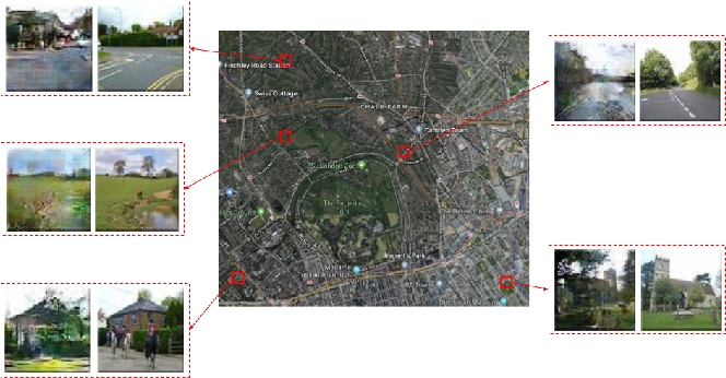 Figure 1 for Using Conditional Generative Adversarial Networks to Generate Ground-Level Views From Overhead Imagery