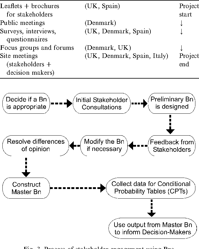 Fig. 3. Process of stakeholder engagement using Bns.