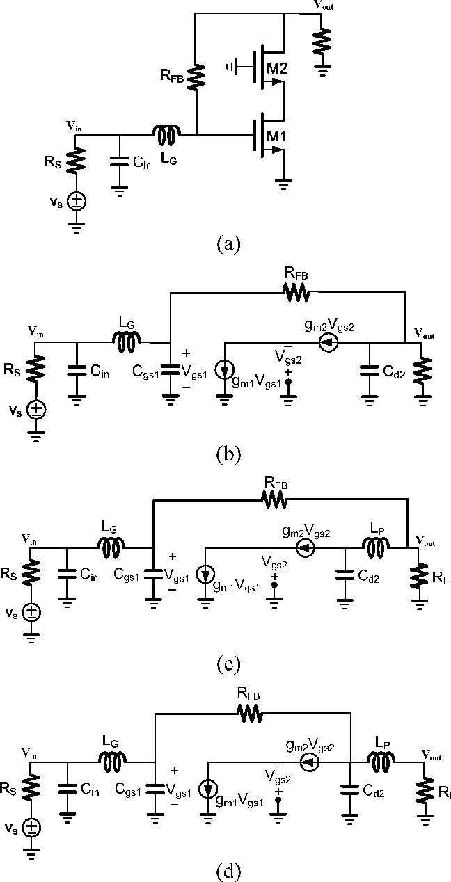 Figure 4 From Analysis And Design Of A 1628 Ghz Compact Wideband Inductor Equivalent Circuit Real Schematic B Small Signal