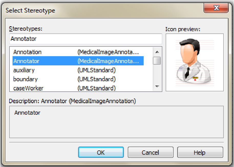 Figure 3 for Extending UML for Conceptual Modeling of Annotation of Medical Images