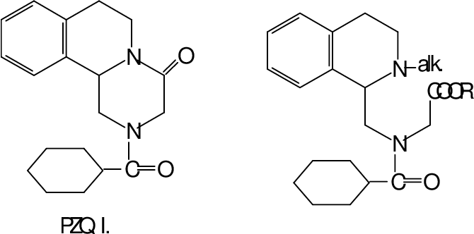 Anticestodal activity and toxicity of some praziquantel analogues