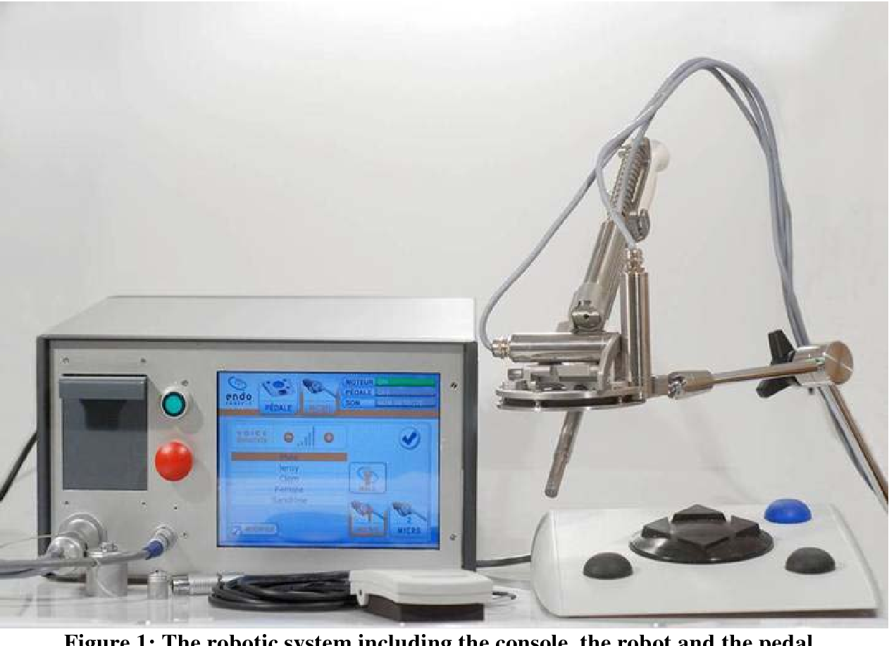 Figure 1 for First Clinical Experience in Urologic Surgery with a Novel Robotic Lightweight Laparoscope Holder