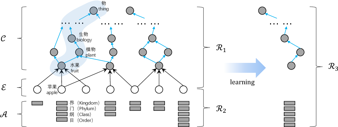 Figure 3 for Attribute Acquisition in Ontology based on Representation Learning of Hierarchical Classes and Attributes