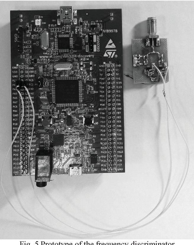 Frequency discriminator based on equalizer for 100–512 MHz