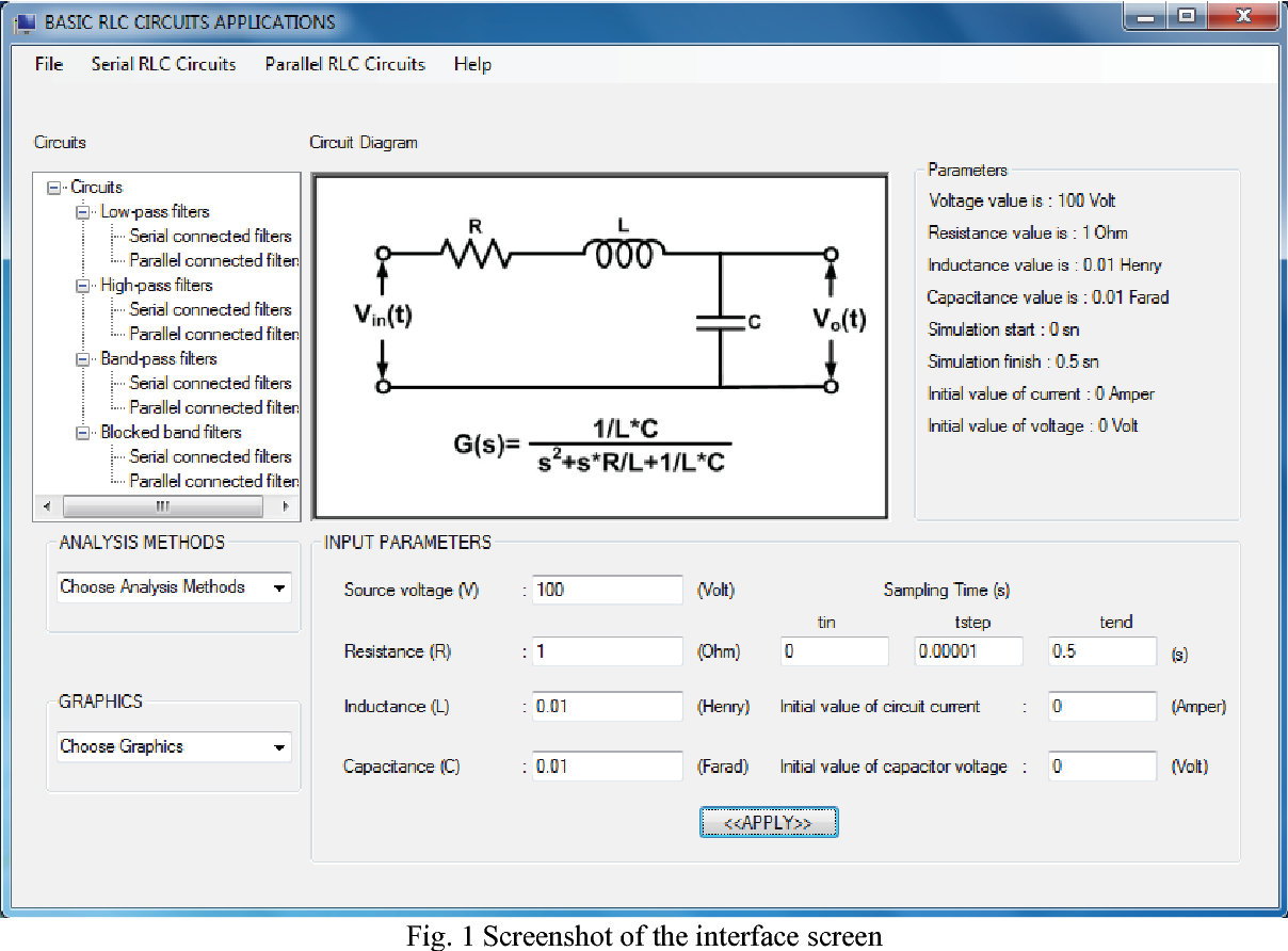 Figure 1 From Cnet And Matlab Based Simulation Program For Basic Electronic Circuit Drawing Software Circuits Pic Fig Screenshot Of The Interface Screen