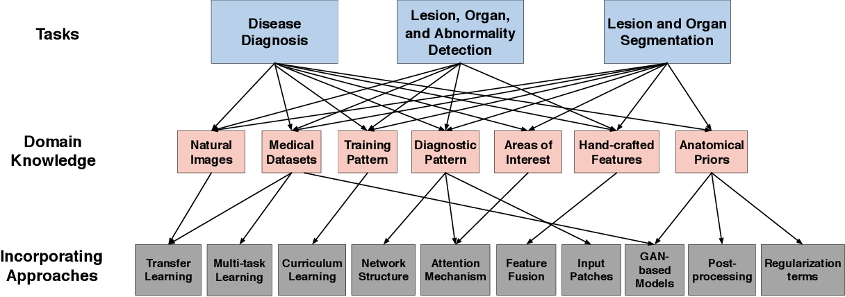 Figure 2 for A Survey on Domain Knowledge Powered Deep Learning for Medical Image Analysis