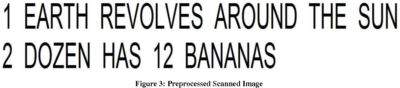 Figure 3: Preprocessed Scanned Image