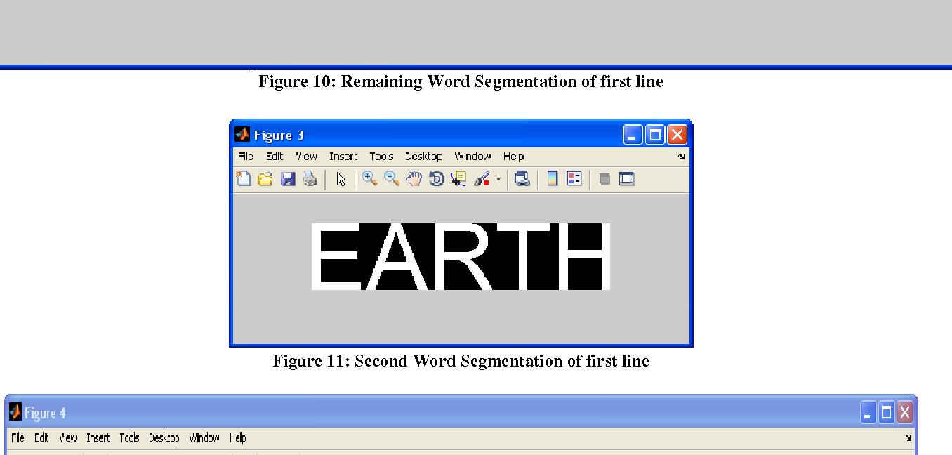 Figure 10: Remaining Word Segmentation of first line