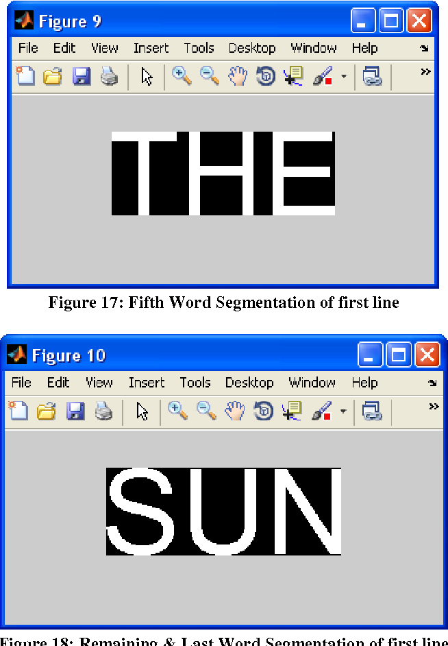 Figure 17: Fifth Word Segmentation of first line