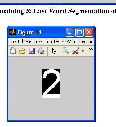 Figure 18: Remaining & Last Word Segmentation of first line