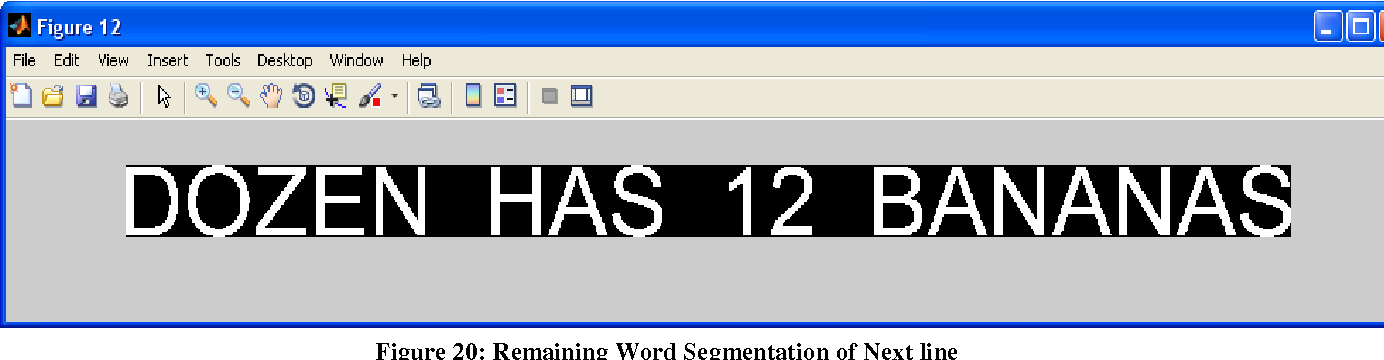 Figure 20: Remaining Word Segmentation of Next line