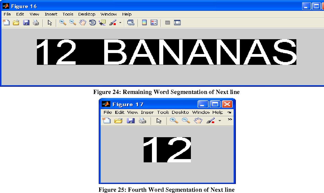 Figure 24: Remaining Word Segmentation of Next line