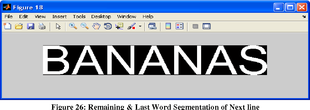 Figure 26: Remaining & Last Word Segmentation of Next line