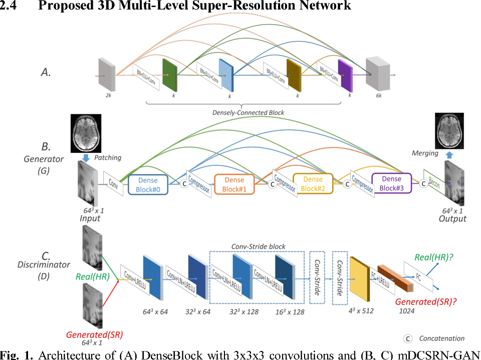 Figure 1 for Efficient and Accurate MRI Super-Resolution using a Generative Adversarial Network and 3D Multi-Level Densely Connected Network