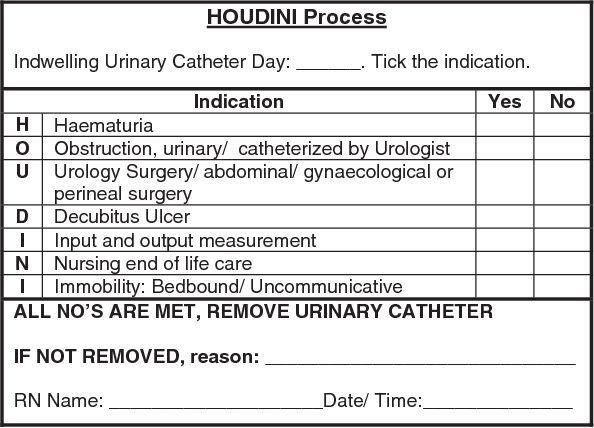 A nurse-driven process for timely removal of urinary catheters