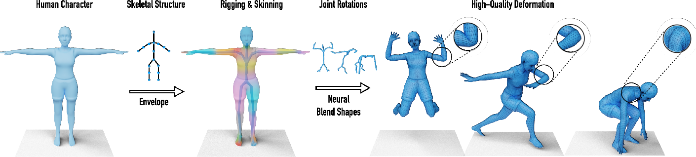 Figure 1 for Learning Skeletal Articulations with Neural Blend Shapes