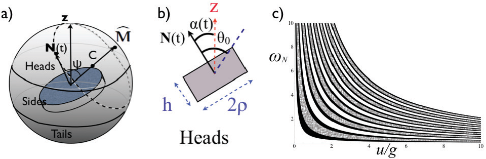 Figure 3 from Probability and dynamics in the toss of a non