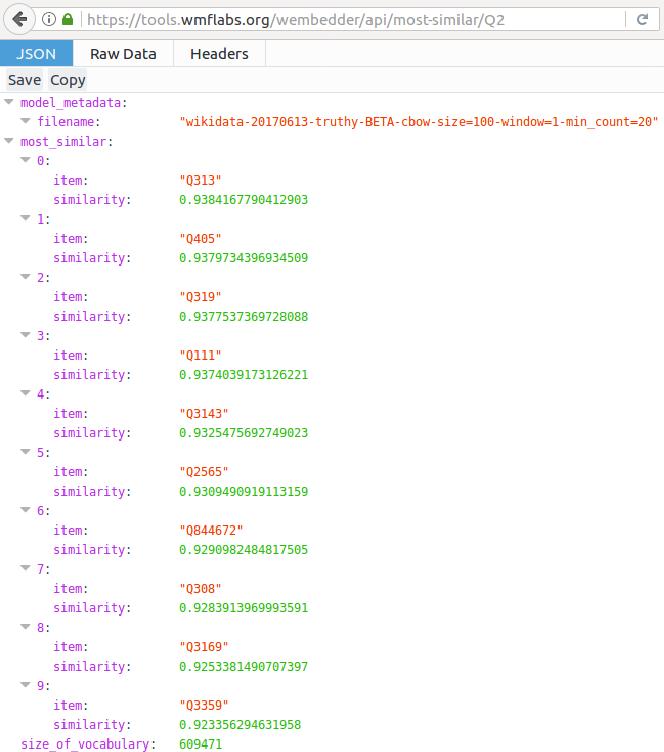 PDF] Wembedder: Wikidata entity embedding web service - Semantic Scholar