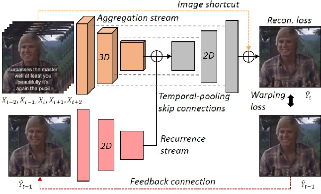 Figure 1 for Deep Blind Video Decaptioning by Temporal Aggregation and Recurrence