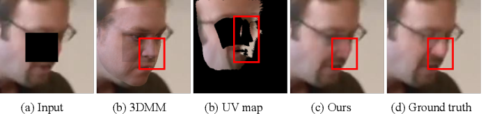 Figure 4 for Deep Face Video Inpainting via UV Mapping