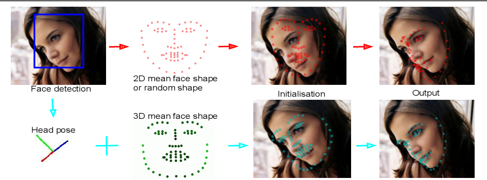 Figure 1 for Face Alignment Assisted by Head Pose Estimation