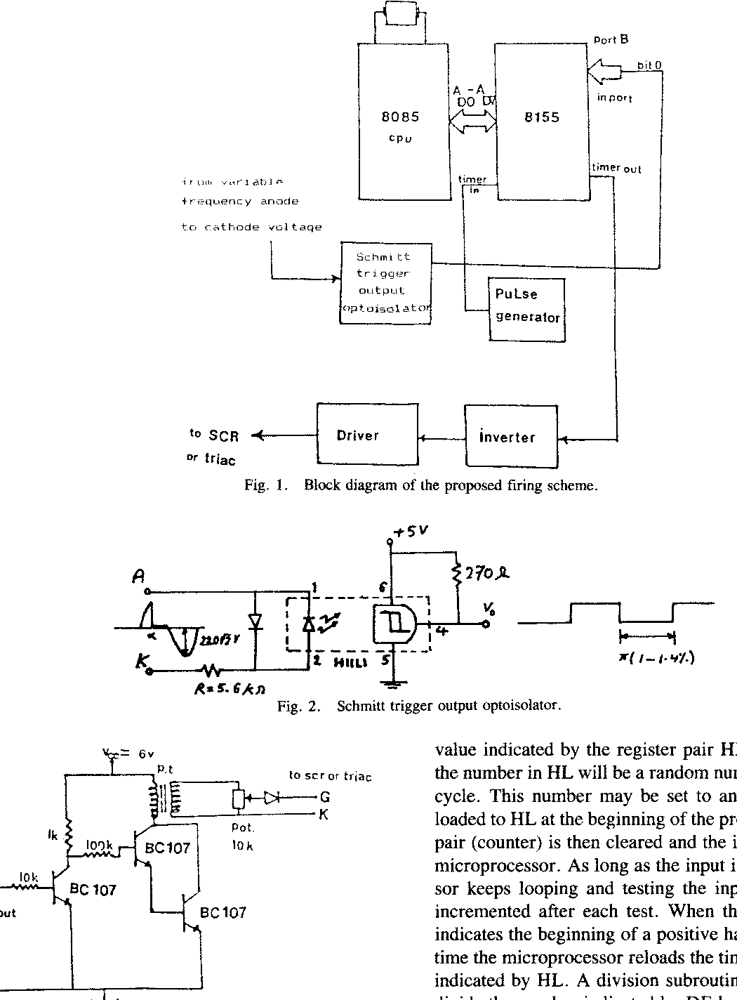 Block Diagram 8085 A Microprocessor Based Novel Scheme For Constant Angle Triggering Of Figure 1