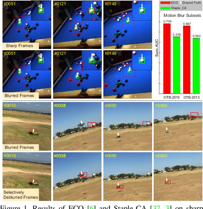 Figure 1 for Effects of Blur and Deblurring to Visual Object Tracking