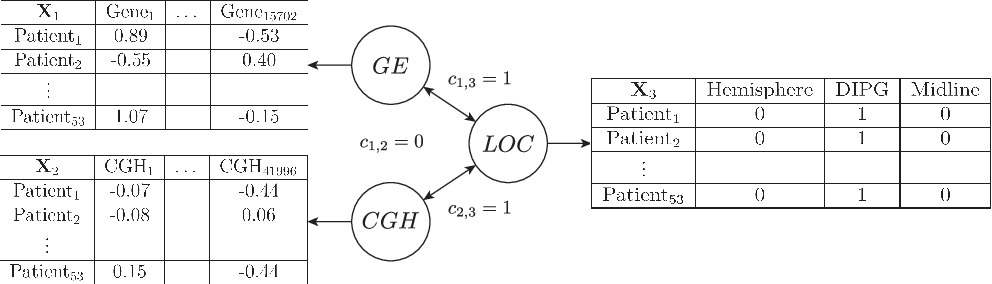 Figure 1 for A general multiblock method for structured variable selection