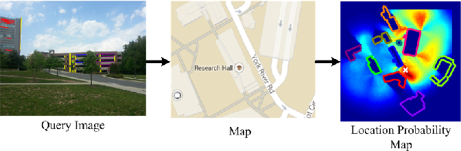 Figure 1 for Semantic Image Based Geolocation Given a Map