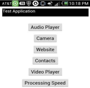 Figure 6: The main page of the PhoneGap app
