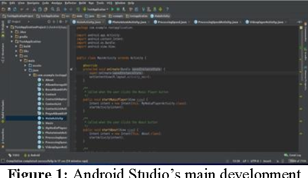Figure 1: Android Studio's main development screen