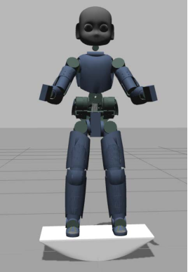 Figure 1 for Modeling and Control of Humanoid Robots in Dynamic Environments: iCub Balancing on a Seesaw