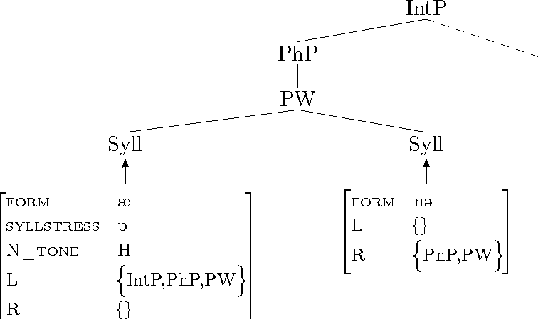 Figure 3.3: Simplified p-structure as proposed by Mycock and Lowe (2013).