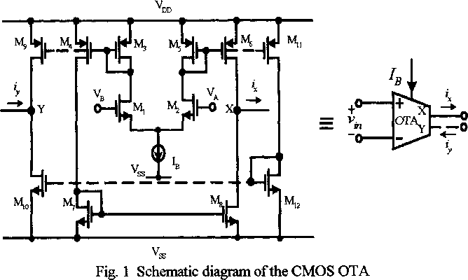 1 schematic diagram ofthe cmos ota