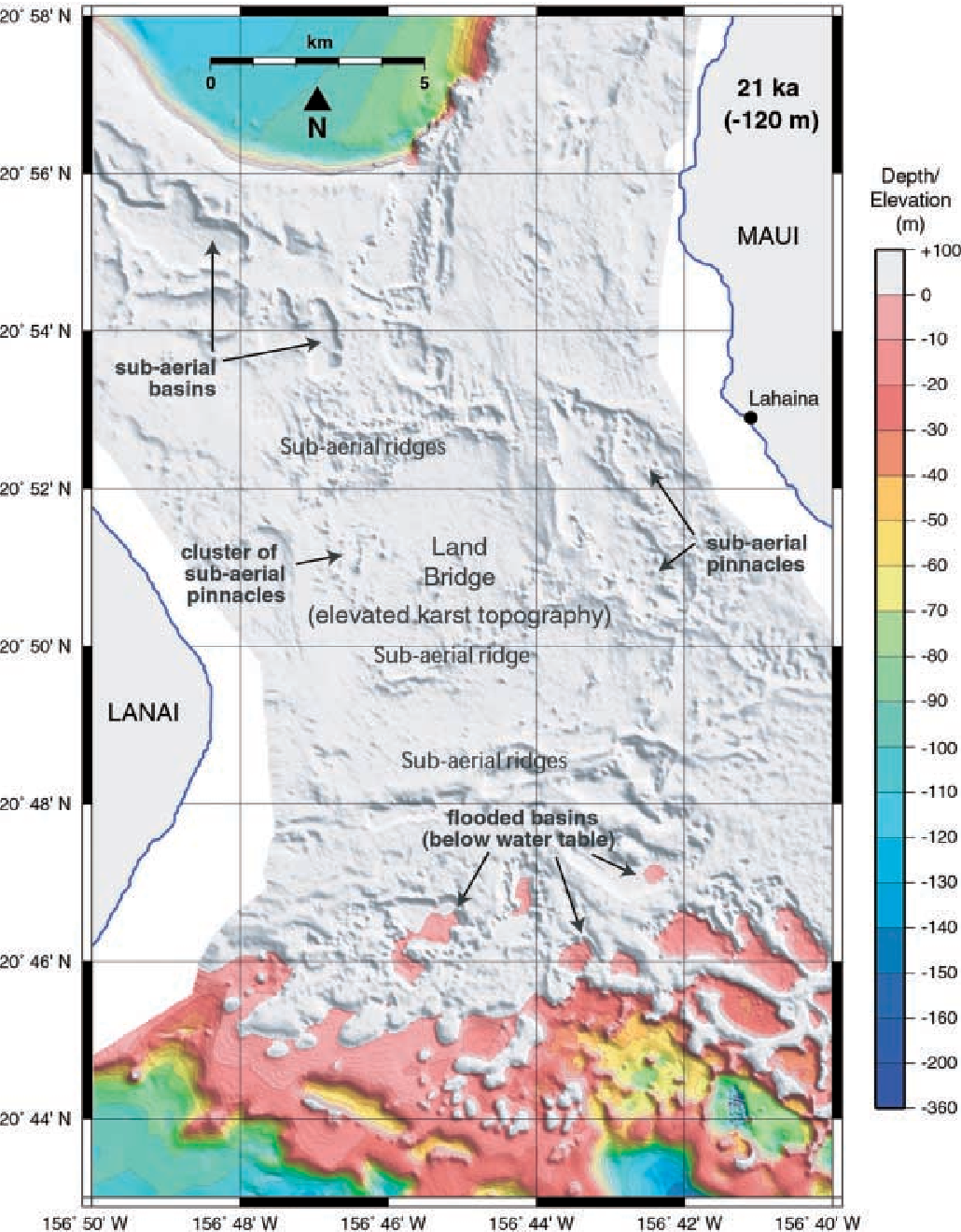 Figure 3 from Drowned reefs and antecedent karst topography