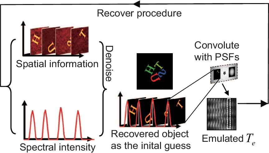 Figure 3 for Polarized hyperspectral imaging with single fiber bundle via incoherent light transmission matrix approach