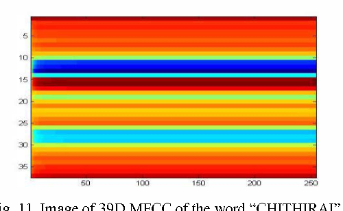 Fig. II. Image of 390 MFCC of the word
