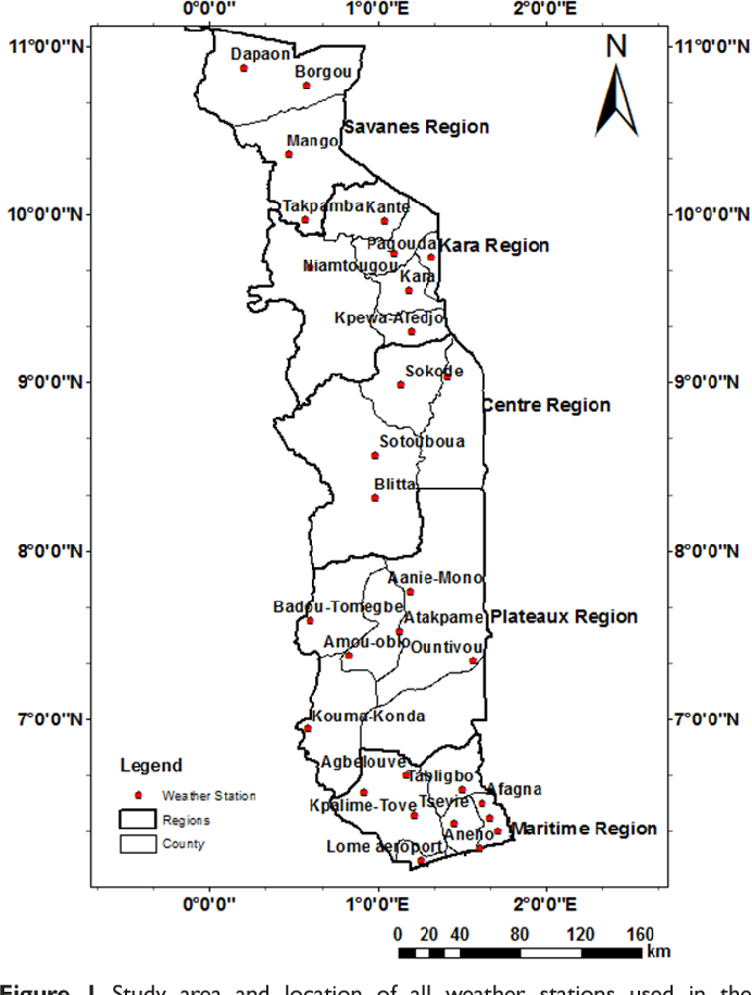 Spatial And Temporal Variation In Precipitation In Togo