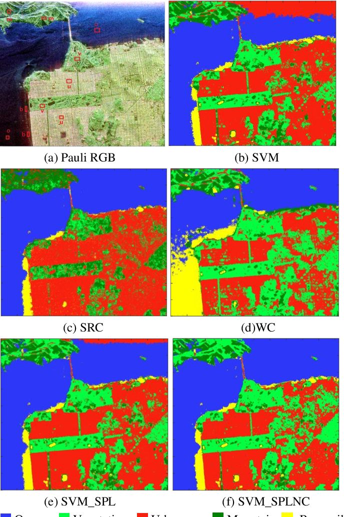 Figure 3 for Complex Scene Classification of PolSAR Imagery based on a Self-paced Learning Approach