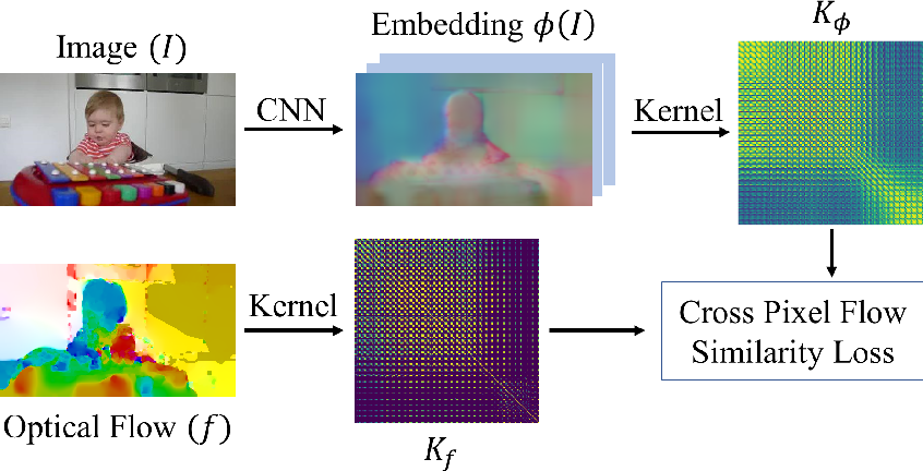 Figure 1 for Cross Pixel Optical Flow Similarity for Self-Supervised Learning