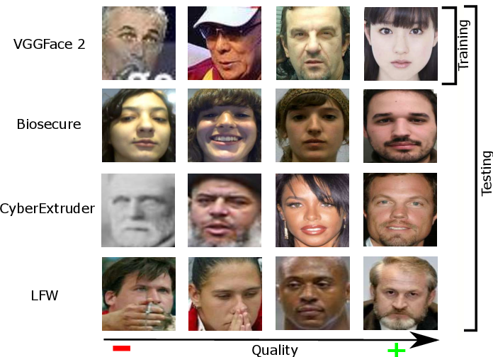 Figure 1 for Biometric Quality: Review and Application to Face Recognition with FaceQnet