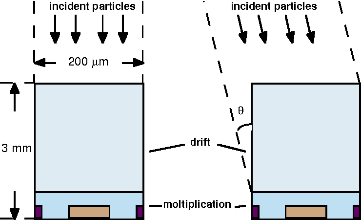 Figure 1: The detector cell defined for simulation purposes.
