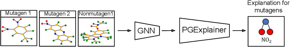 Figure 1 for Parameterized Explainer for Graph Neural Network