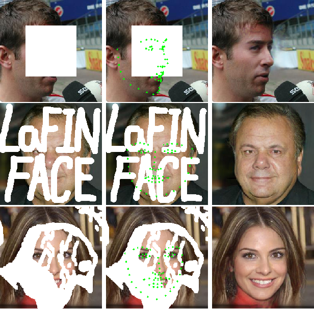 Figure 1 for LaFIn: Generative Landmark Guided Face Inpainting