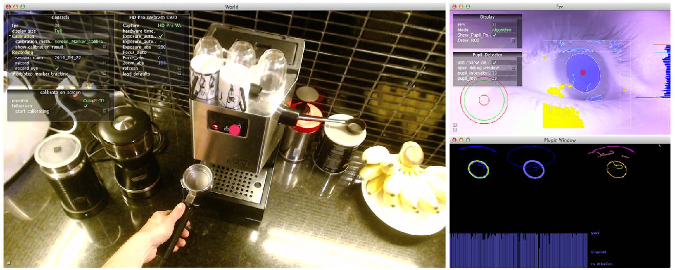 Figure 2 for Pupil: An Open Source Platform for Pervasive Eye Tracking and Mobile Gaze-based Interaction