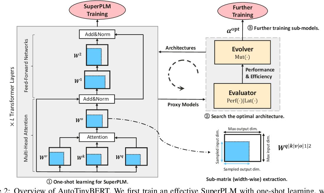Figure 3 for AutoTinyBERT: Automatic Hyper-parameter Optimization for Efficient Pre-trained Language Models